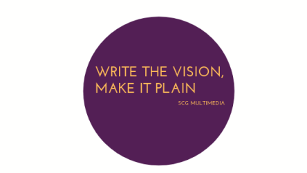 Write the vision, make it plain (1)